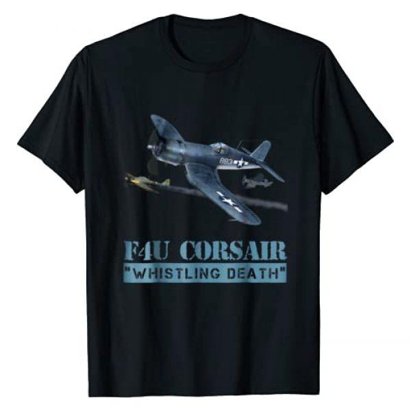 "Aviation Buff, Military Aircraft T-shirt's Graphic Tshirt 1 F4U Corsair. ""Whistling Death"" Awesome Warbird, t-shirt!!"