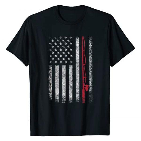 American Flag Fishing Shirt LovelyShirts Graphic Tshirt 1 American Flag Fishing Shirt Vintage Fishing Tshirt T-Shirt