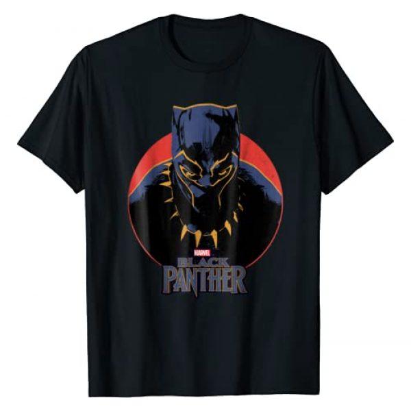 Marvel Graphic Tshirt 1 Black Panther Movie Retro Circle Portrait T-Shirt