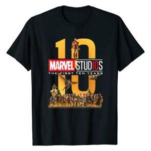 Marvel Graphic Tshirt 1 Studios First Ten Years Full Cast Graphic T-Shirt T-Shirt
