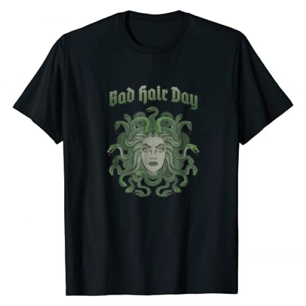 Horror Monster Costume Art Mythology Tee Shirt Graphic Tshirt 1 Funny Medusa BAD HAIR DAY T-Shirt Greek Myth TShirt
