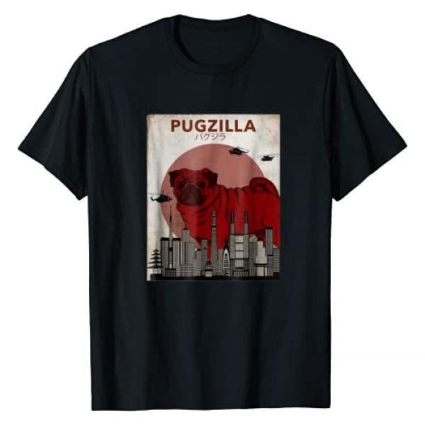 PugFunnyShirts Co. Graphic Tshirt 1 Pug tShirt Pugzilla