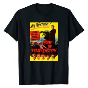 Halloween Vintage Horror Movie Poster Shirt Shop Graphic Tshirt 1 Classic Halloween Monster Poster Horror Movie Frankenstein T-Shirt
