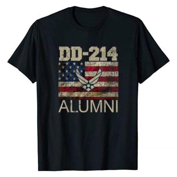 DD-214 Air Force Alumni Shirt Graphic Tshirt 1 Air Force Alumni DD-214 Vintage American Flag Tshirt