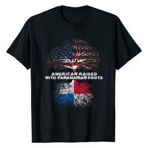 American Raised Panamanian Roots US Flag Tee Co. Graphic Tshirt 1 American Raised with Panamanian Roots Panama T-Shirt