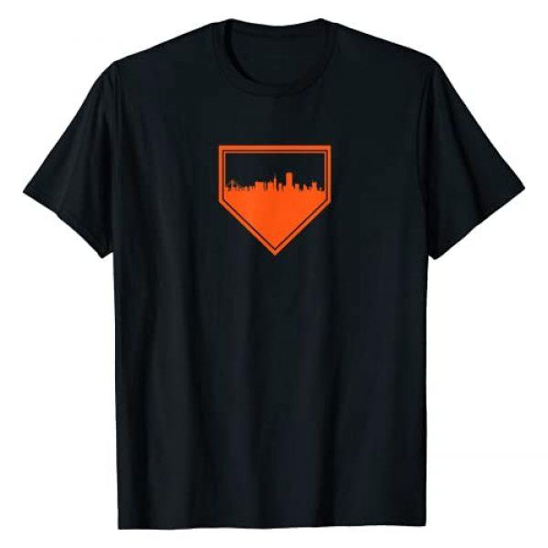 Tout Wear San Francisco Graphic Tshirt 1 San Francisco Baseball Home Plate Vintage SF Skyline T-Shirt
