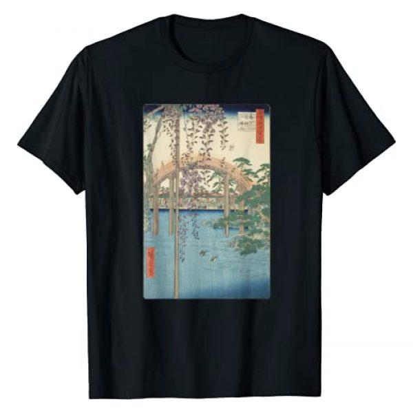 Smooth HQ Graphic Tshirt 1 Vintage Famous Japanese Woodblock Art Kameido Tenjin Shrine T-Shirt