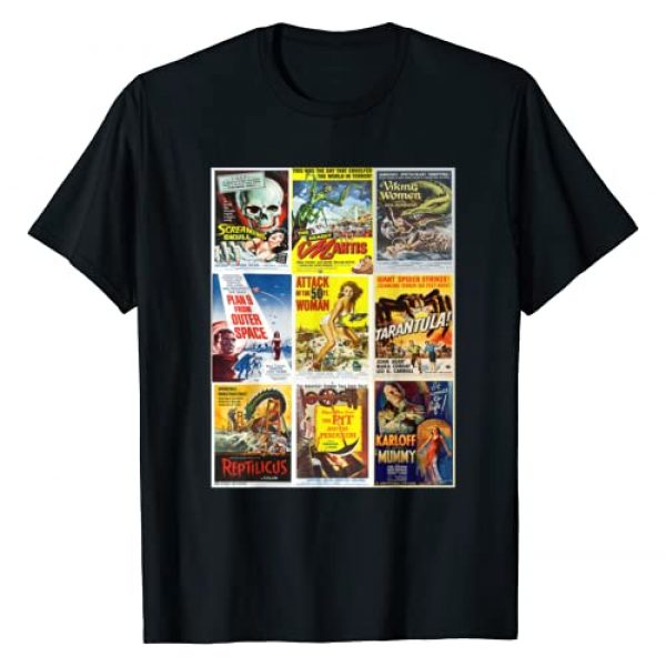 VINTAGE MOVIE POSTERS Graphic Tshirt 1 B Movie Poster Collection, Classic Sci-Fi Horror Monsters T-Shirt