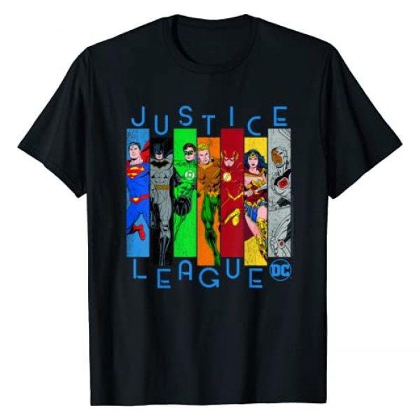 DC Comics Graphic Tshirt 1 Justice League Panels T-Shirt