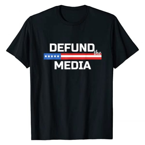 Defund The Media 864531120 USA Flag Anti Fake News Graphic Tshirt 1 Presidential Election 86453112 USA Flag Defund The Media T-Shirt