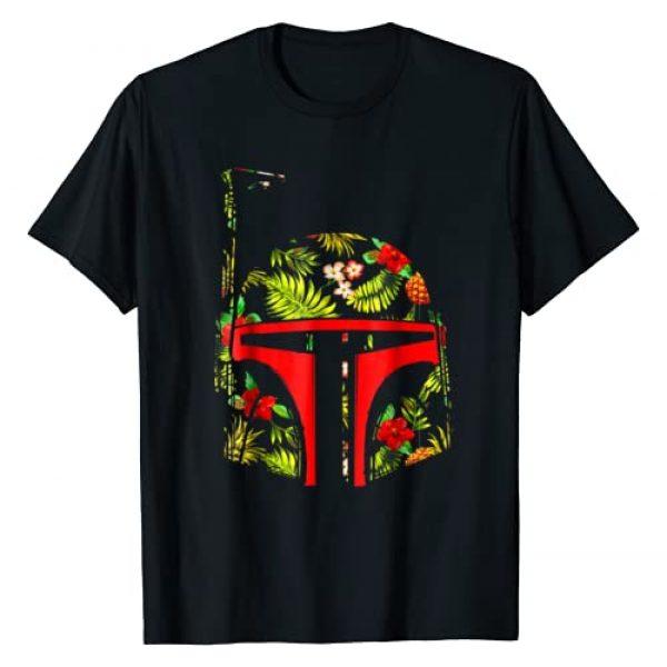 Star Wars Graphic Tshirt 1 Boba Fett Tropical Print Helmet Graphic T-Shirt