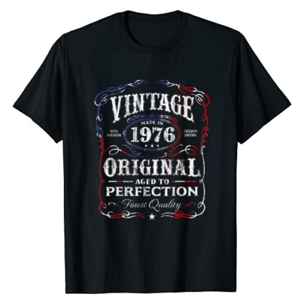AGED TO PERFECTION Graphic Tshirt 1 Vintage Made In 1976 T-Shirt 42nd Birthday Gift