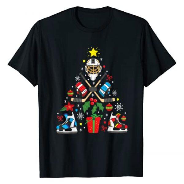 Ice Hockey Christmas Gift Ideas Graphic Tshirt 1 Ice Hockey Christmas Ornament Tree Funny Xmas Gift Boys T-Shirt