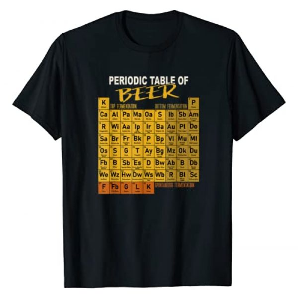 Funny Homebrewing Craft Beer Periodic System Gift Graphic Tshirt 1 Periodic Table Of Beer Craft Beer Style Brewery T-Shirt