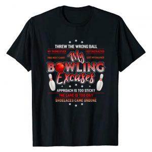 Bowling Shirts By AKOKAY Graphic Tshirt 1 My Bowling Excuses T-Shirt Funny Bowling Gift T-Shirt