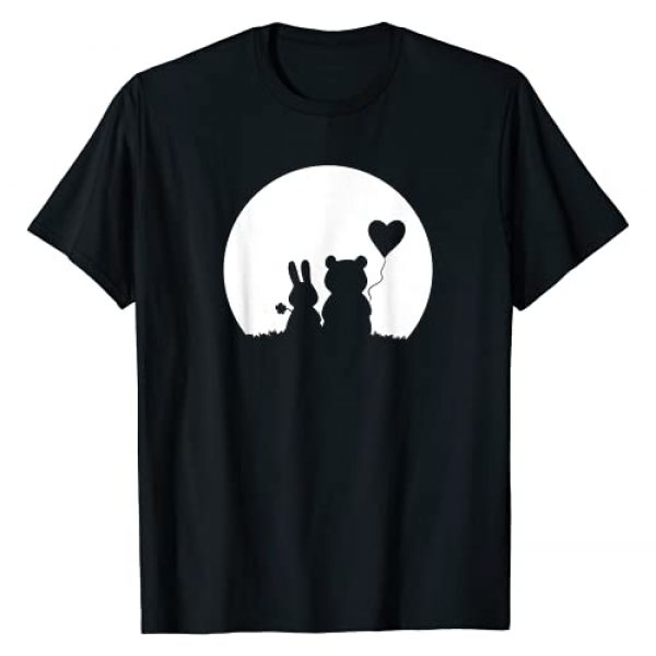 Valentines Day Teddy Bear Knuffle Easter Bunny Graphic Tshirt 1 Cute Bunny Bear Love Couple Valentine's Day Rabbit Lover T-Shirt