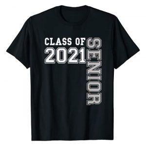 Senior Class Graduate Shirts by Sweet Graduation Graphic Tshirt 1 Class of 2021 Senior Girls Boys 21 Cute Gift for Women Men T-Shirt