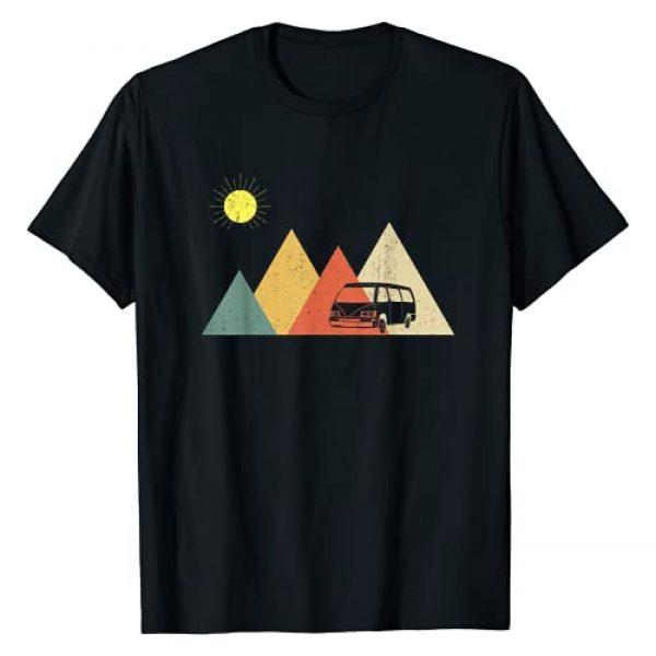 Retro Van Lover Apparel & Gifts Graphic Tshirt 1 Retro Camper Van Life | Vintage Bus Vanlife T-Shirt