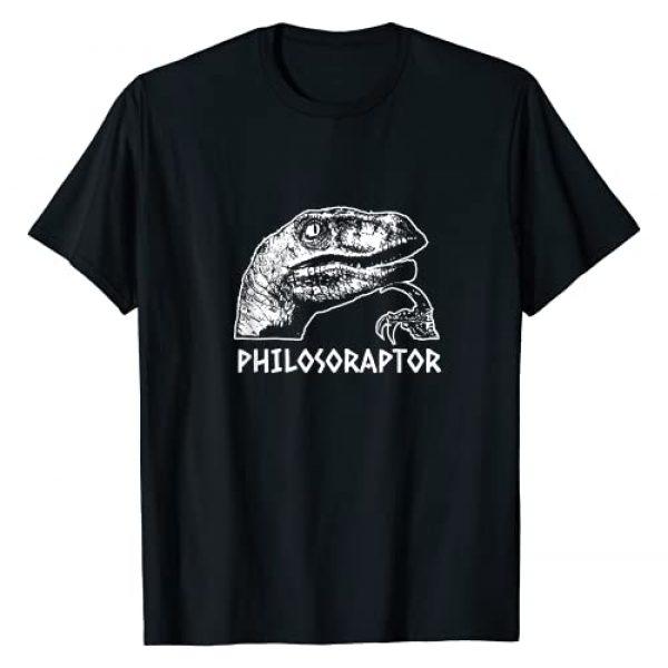 funny philosophy gifts Graphic Tshirt 1 Philosoraptor meme - Philosopher gift T-Shirt