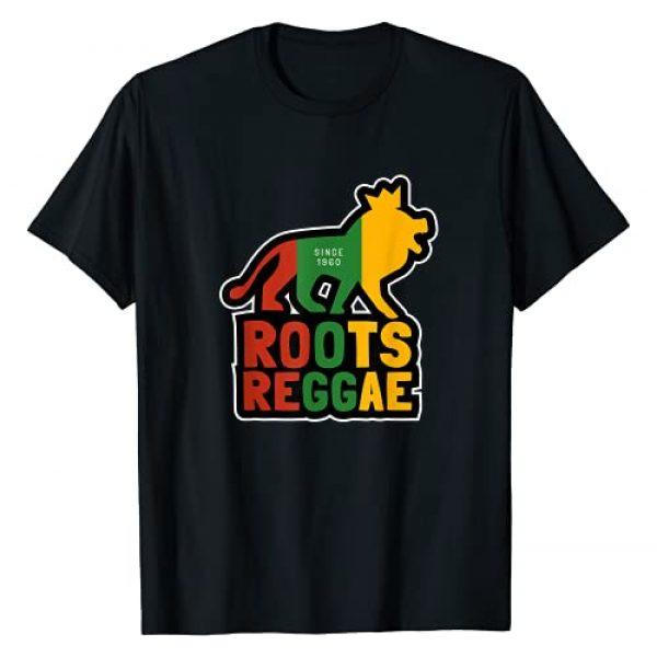 Jamaican Reggae Dub Dancehall Music Graphic Tshirt 1 Roots Reggae Since 1960, Jamaican Music Conquering Lion T-Shirt