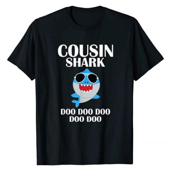 Family Shark Doo Doo Doo Shirt And Gifts Graphic Tshirt 1 Cousin Shark T-Shirt Doo Doo Doo Funny Cousin Christmas T-Shirt