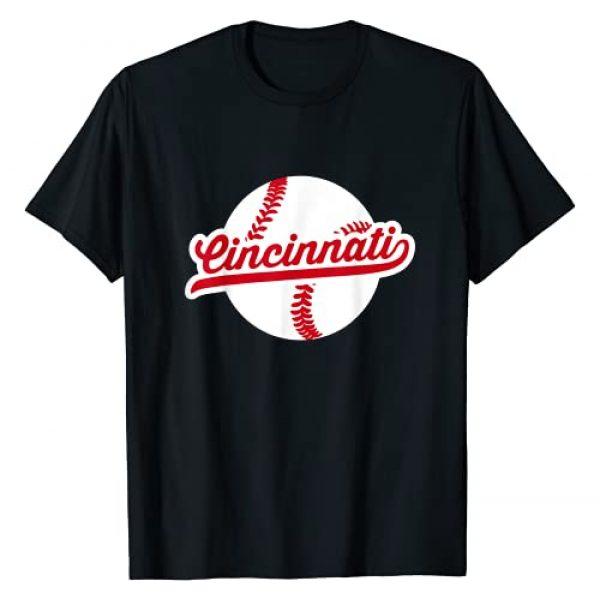 Retro Baseball City Team Gift Graphic Tshirt 1 Cincinnati Baseball Vintage Ohio Pride Love City Red T-Shirt