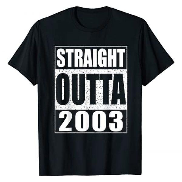 Straight Outta 2003 Tees Graphic Tshirt 1 Straight Outta 2003 T-Shirt 18th Birthday Gift Shirt T-Shirt