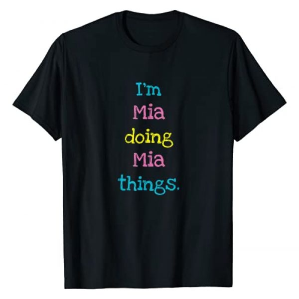 Kids Clothes Co Graphic Tshirt 1 Mia Cute Personalized Text Kid's Gift Top For Girls T-Shirt