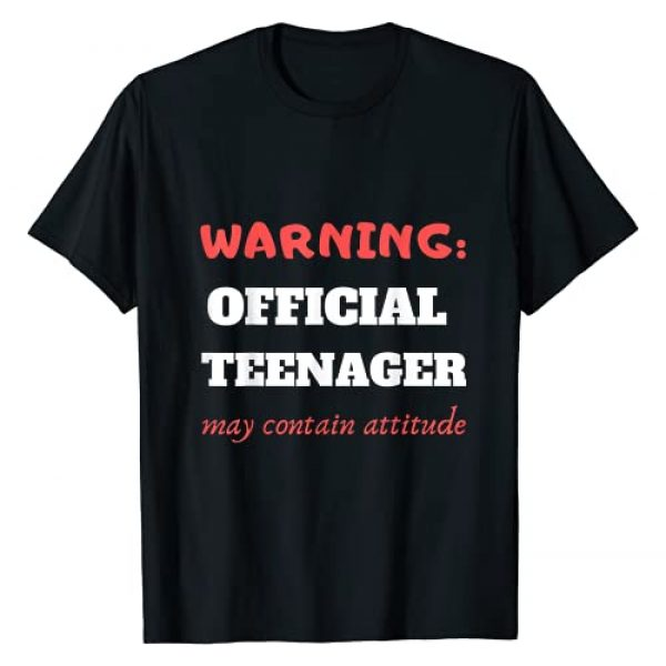 warning: OFFICIAL TEENAGER may contain attitude Graphic Tshirt 1 Teenage 13th birthday funny gift design for boys and girls T-Shirt