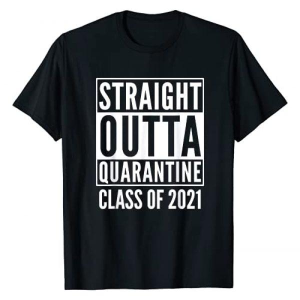 FUNTEXTIQUE Graphic Tshirt 1 Straight Outta Quarantine Class Of 2021 T-Shirt
