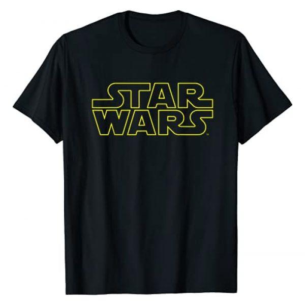 Star Wars Graphic Tshirt 1 Simple Logo Outline Graphic T-Shirt T-Shirt