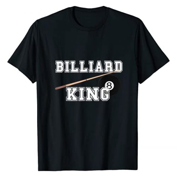 Cool Pool Billiard Snooker Eight Ball Game Gifts Graphic Tshirt 1 Billiard King Pool Snooker Player 8 Ball Billards Game Cues T-Shirt