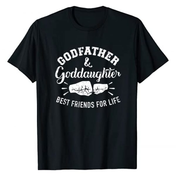 Godfather gifts Graphic Tshirt 1 Godfather and goddaughter friends for life T-Shirt