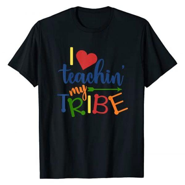 Teachers Back to School Tees Graphic Tshirt 1 Teachers - I Love Teaching My Tribe T-Shirt