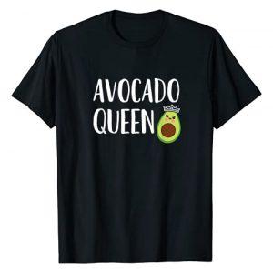 AVZ Avocado Shirts Graphic Tshirt 1 Avocado Themed Gift Women Girls Funny Avocado Queen T-Shirt