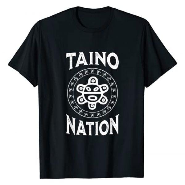Taino Art Graphic Tshirt 1 White Taino Nation Coqui Sun Boricua Taino Gift Puerto Rico T-Shirt