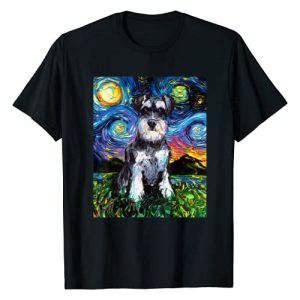 Sagittarius Gallery Graphic Tshirt 1 Schnauzer Starry Night Impressionist Dog Art by Aja T-Shirt