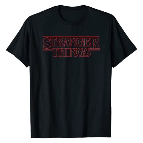 Stranger Things Graphic Tshirt 1 Netflix Stranger Things Outline Logo T-Shirt