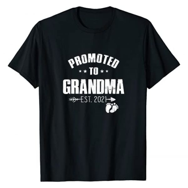 Pregnancy Announcement Family Gift Graphic Tshirt 1 Promoted To Grandma Est 2021 Pregnancy New Grandma Gifts T-Shirt