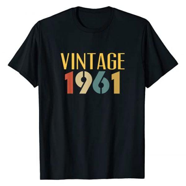 Vintage 60th Birthday Gifts for Men & Women Co. Graphic Tshirt 1 Vintage 1961 60 Year Old 60th Birthday Gift for Women Men T-Shirt