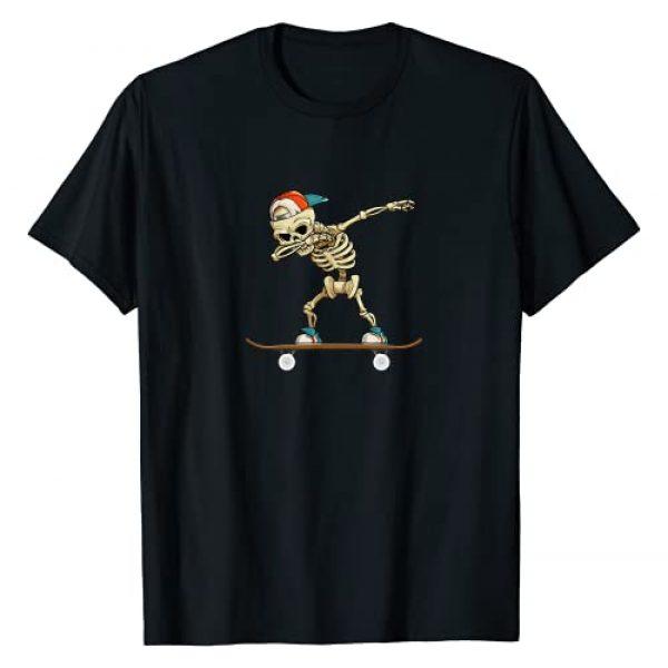Dabbing skateboard skeleton gift Graphic Tshirt 1 Dabbing Skeleton Skater Gift T-Shirt