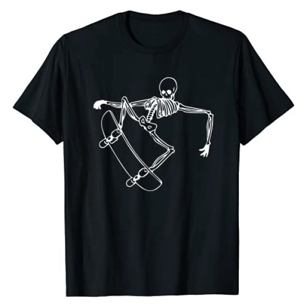 skateboarding skull tee Graphic Tshirt 1 Skateboard cool skeleton skater birthday gift T-Shirt