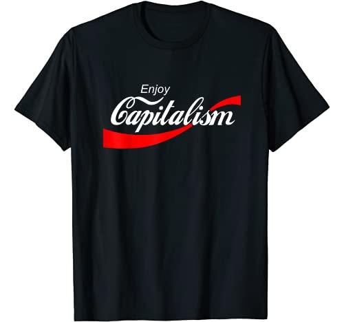 Enjoy Capitalism Design Graphic Tshirt 1 Enjoy Capitalism For American Entrepreneur T-Shirt