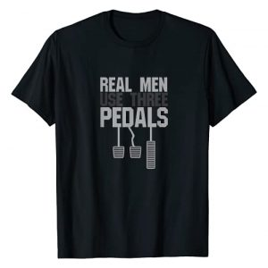 Car Guy Hub Graphic Tshirt 1 Funny Car Guy Gift - Real Men Use Three Pedals T-Shirt