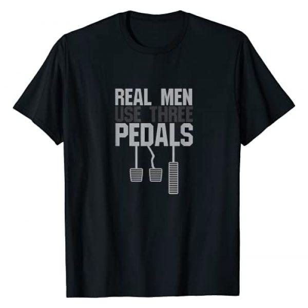 Car Guy Hub Graphic Tshirt 1 Funny Car Guy Gift - Real Men Use Three Pedals T-Shirt