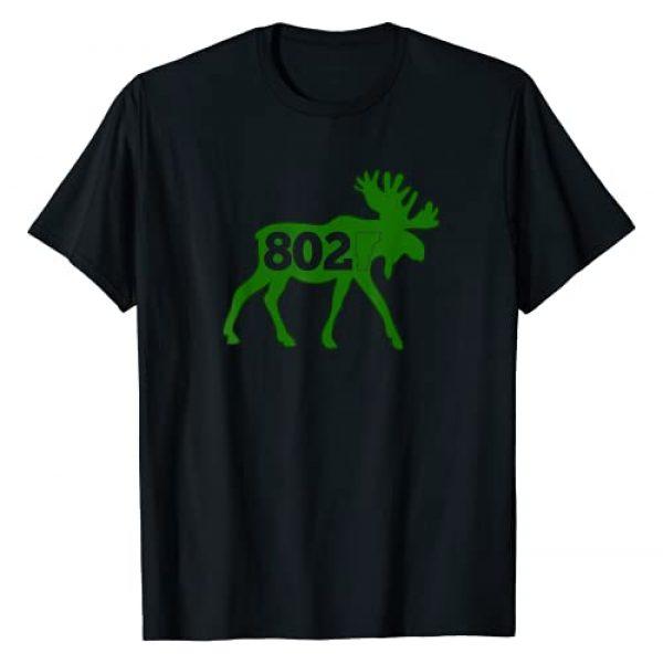 802 Vermont Designs Graphic Tshirt 1 Vermont Moose 802 Vermont Green Mountain State T-Shirt