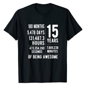 15 Years Old Birthday Gifts Co. Graphic Tshirt 1 15th Birthday Gift Idea For Boys & Girls Funny 15 Years Old T-Shirt