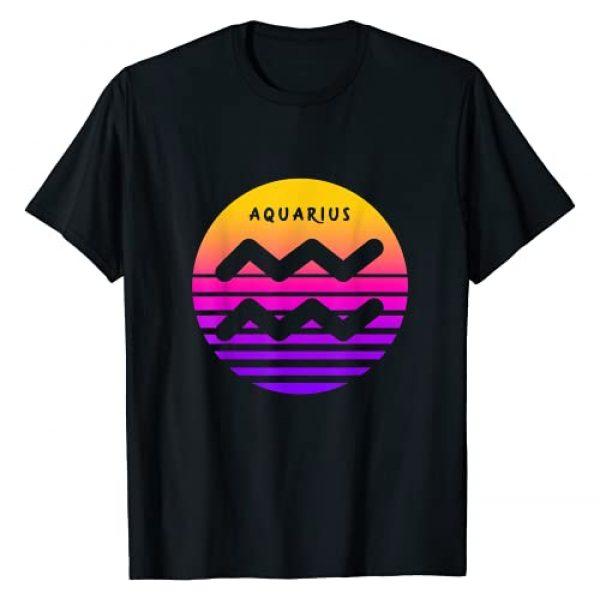 Aquarius Zodiac / Vintage Aquarius Birthday Gifts Graphic Tshirt 1 Aquarius Zodiac Sign Vintage Sunset / Retro Aquarius Gift T-Shirt