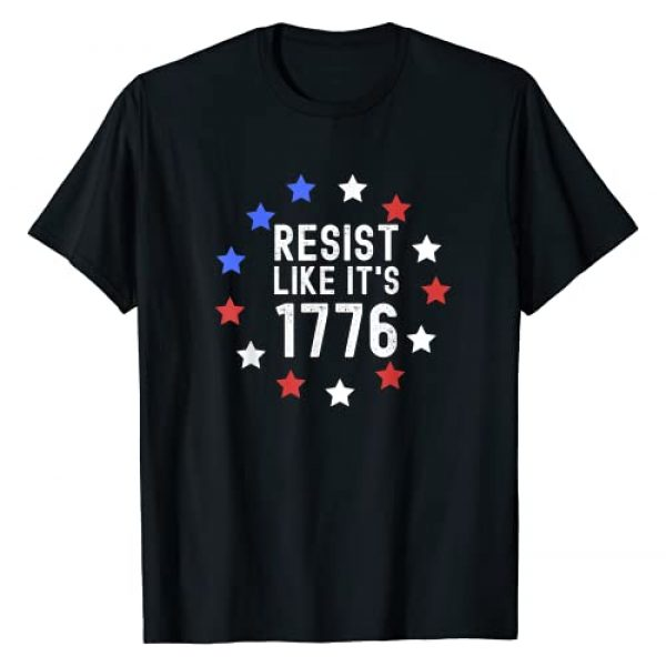 Libertarian Minarchist Anti Government Gift Graphic Tshirt 1 Libertarian Anti Tyranny Resist Like It's 1776 Patriotic T-Shirt