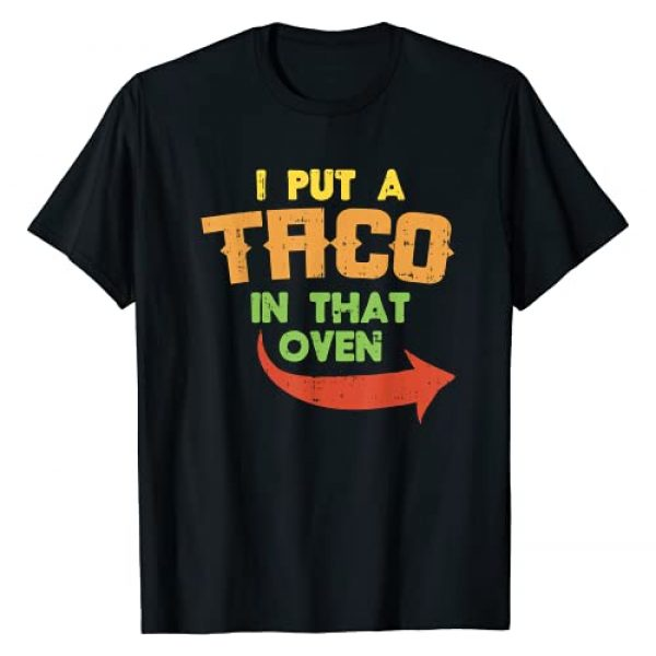 Mexican Cinco De Mayo Pregnancy Shirt Baby Shower Graphic Tshirt 1 I Put A Taco In That Oven Pregnancy Men Cinco De Mayo Baby T-Shirt